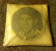 1950and039s Pm10 Pin Bill Rigney Celluloid Button New York Giants Stadium Pinback Mip