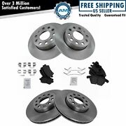 Front And Rear Ceramic Brake Pad And Rotor Kit Direct Fit For Vw Golf Jetta