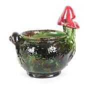 Blanche Vulliamy Arts And Crafts Wardle Pottery Rare Snail Toadstool Bowl Signed
