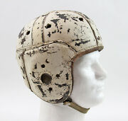 Antique C1930's Rawlings Men's Leather Football Helmet W/ Chin Strap