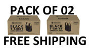 Memberand039s Mark Black T-shirt Carryout Bags 1000 Ct. Pack Of 02 Free Shipping