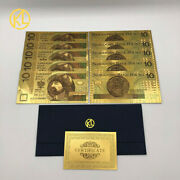 2017 Polish Zloty Currency Design Gold Banknotes 10 Pln For Bank Souvenir Gifts