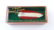 1 New Boxed Eppinger Dardevleandreg Spoon 116 Red/white 3 Vintage Nos Lure [m79-1]