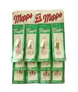 12 Vintage Aglia Mepps Killer Fishing Tackle Bait Fish Lure Store Display Sign