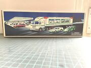 1997 Hess Toy Truck And Racers New In Box Lights And Sounds Never Displayed