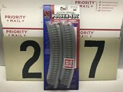 Life Like Ho Scale Power Loc Nickel Silver 18andrdquo Radius Curved Track 4-pack New