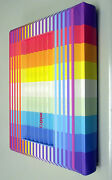 Yaacov Agam Torah With 3-d Rainbow Polymorph Cover Bible Signed New