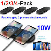 Dual Wireless Charger Mat Pad For Samsung Galaxy Note 20 S21 S20 S10 S9 S8 Plus