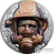 Firefighter Real Heroes 3 Oz Silver Coin 20 Cook Islands 2021