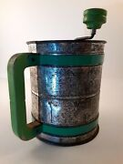 Vintage Flour Sifter Androck Kitchen Collectable Green Depression