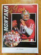 2000 Joe Montana And Jerry Rice San Francisco 49ers Litho Poster By Tim Cortes