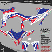 Dfr Puzzle Graphic Kit Red White Blue Sides/fenders 2009-2013 Yamaha Yfz450r