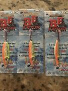 Lot Of 5 Brand New Ice Hole Bb Rattler Ice Spoons 1/2 Oz Glow Chartreuse Orange