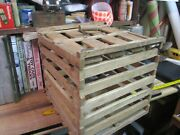Primitive Wooden Farm Egg Crate Box Wood Shipping Carrier Antique