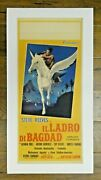 1961 Il Ladro Di Bagdad The Thief Of Baghdad Steve Reeves Poster Linen Backed