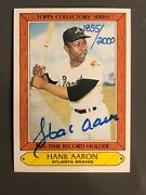 1985 Woolworth's Topps Collectors Series Hank Aaron Signed Autograph 1885/2000
