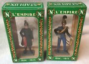 Vintage Starlux, Boxed Napoleonic Figures X 2, 8051 And 8053 60mm Scale Plastic.