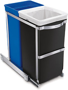 Compartment Under Counter Kitchen Cabinet Pull-out Recycling Bin And Trash Can