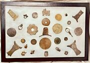 Artifacts Coins Charms And Amulets Lot Old Portuguese Silver Chinese Malay Java +