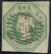 Sg 55 1/- Green. A Very Fine Used 4 Margin Example With Light 26 Numeral Cancel