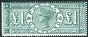 Sg 212 Andpound1 Green. A Superb Lightly Mounted Mint Example