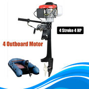 4 Hp 2.6kw 4 Stroke Outboard Motor Fishing Boat Engine Air Cooling System