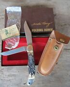 Early Schrade 227uh Knife Serial 01443 Uncle Henry Folding Bowie W/packaging