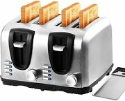 Professional Series 4-slice Stainless Steel Wide Slot Toaster Free Shipping