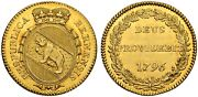 1796 Switzerland Bern Canton. Large Gold Duplone Coin. 7.62gm Ngc Ms-61