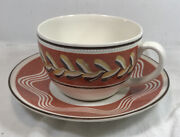 Winthrop And Swann Mochaware 16 Oz Cup And Saucer Made In England