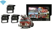 3 Wireless Camera Rv Truck System W/ 7 Split Screen And Parking Grid Lines
