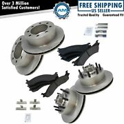 Brake Pad And Rotor Kit Metallic Front And Rear Kit W/chemicals