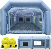 Tkloop Inflatable Paint Spray Booth 26x15x10ft With 450w+950w 2 Blowers