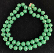 Stunning Chrysoprase Or Green Onyx 24andrdquo Necklace Jade Color
