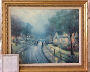 Thomas Kincade Hometown Memories 1 Canvas Gallery Proof Sold Out Edition 24 X 30