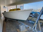 15 Foot Outboard Sailboat Harpoon By Boston Whaler. New Mahagony Seats And Trim