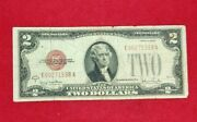 1928 2 G Legal Tender Note Bill Red Seal Low Double Repeat Serial Vg 💵