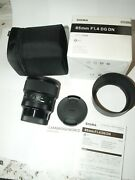Sigma 85mm F1.4 Art Dg Dn Lens For Leica L Camera New In Factory Box And Case