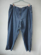J Jill Denim Womans 26w Jeans Out Of The Blue Beaded Accents Pure Cotton