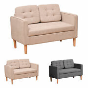 Cotton Cloth Double Sofa Seater With Under-seat Storage And Soft Cushioned Seats
