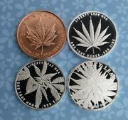 3 1 Troy Ounce .999 Silver Indica Sativa Ruderalis Marijuana Rounds And 1oz Copper