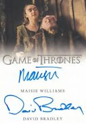 Game Of Thrones S8 Dual Autograph Card Maisie Williams And David Bradley