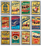 Zippo Old School 1940and039s Race Club 12 Lighter Set Vintage Poster Street Chrome