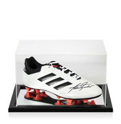 Alan Shearer Signed Adidas Football Boot - White - In Acrylic Display Case