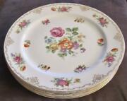 Four Noritake China Dresdoll 10 Dinner Plates Made In Occupied Japan