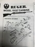 1965 Ruger Model 10/22 Carbine Exploded Viewparts Listassembly Article
