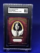 2008 Upper Deck Piece Of History Hair Cuts, University Archives, Geronimo, Rare