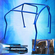 6 Point Anti Roll Cage Safety Blue For 1999-2005 Volkswagen Gofl Gti Mk4 Mkiv