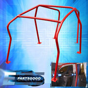 6 Point Anti Roll Cage Safety Red For 1999-2005 Volkswagen Gofl Gti Mk4 Mkiv