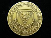 Usaf 12th Twelfth Air Force 3 Star General Commander Challenge Coin